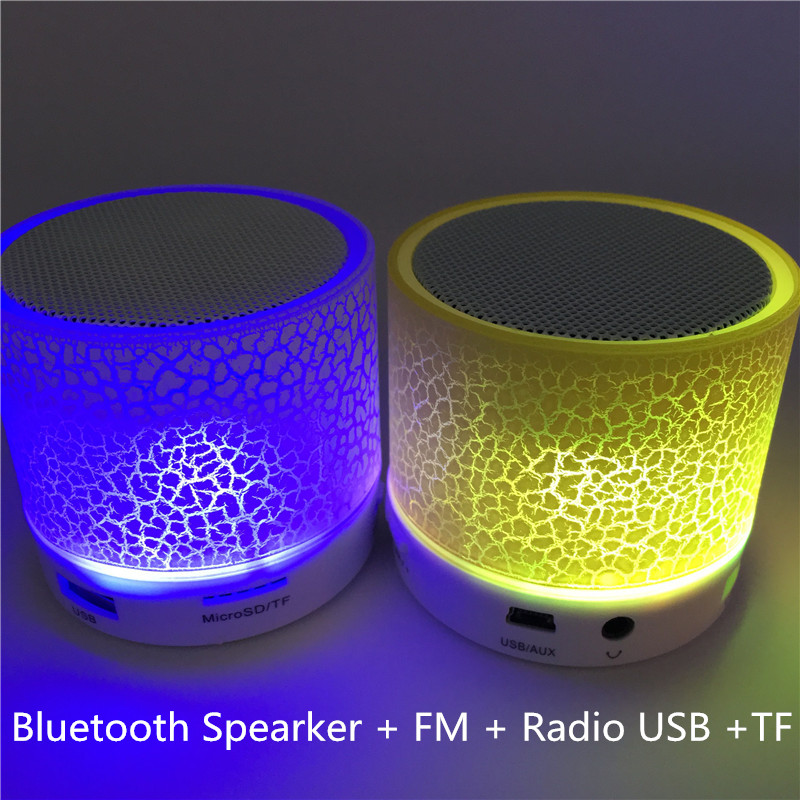 LED Bluetooth Speaker Mini Speakers Hands Free Port