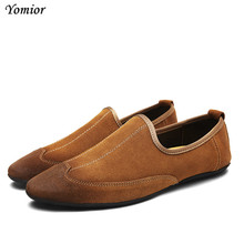 Yomior Genuine Leather Men Casual Shoes Adult Spring Summer Classic Fashion Male Flat Comfortable Sneakers Driving Shoes Loafers
