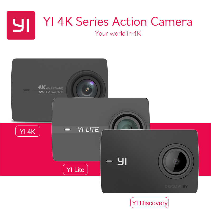 [International] YI 4K & YI Lite & YI Discovery 4K Action Camera 1080P 60fps WIFI Bluetooth Waterproof Touch Screen Sport DVRs