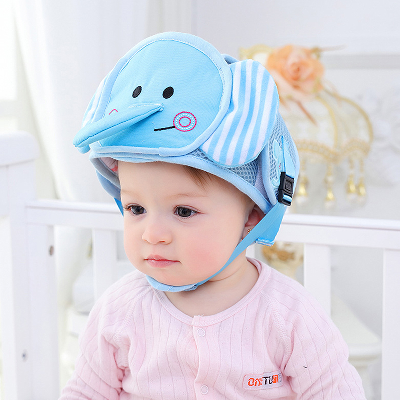 Anti-collision Infants Toddler Cap Protective Hat Baby Safety Helmet Soft Head Security Protection Hats Security Adjustable Fashionable Patterns Boys' Baby Clothing Accessories