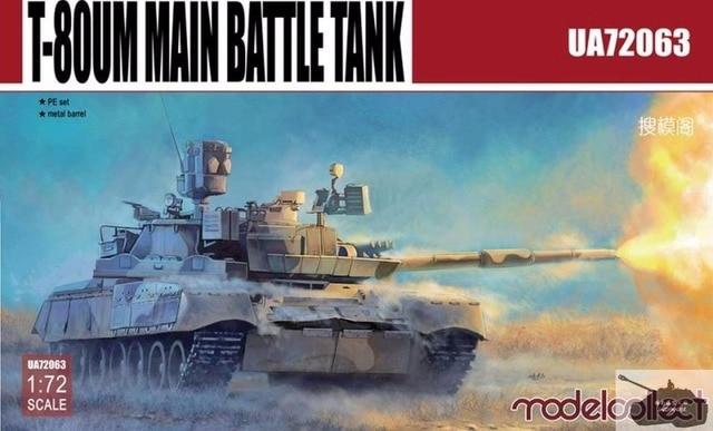 Modelo Coletar UA72063 1/72 T-80UM1 Tanque Principal de Batalha