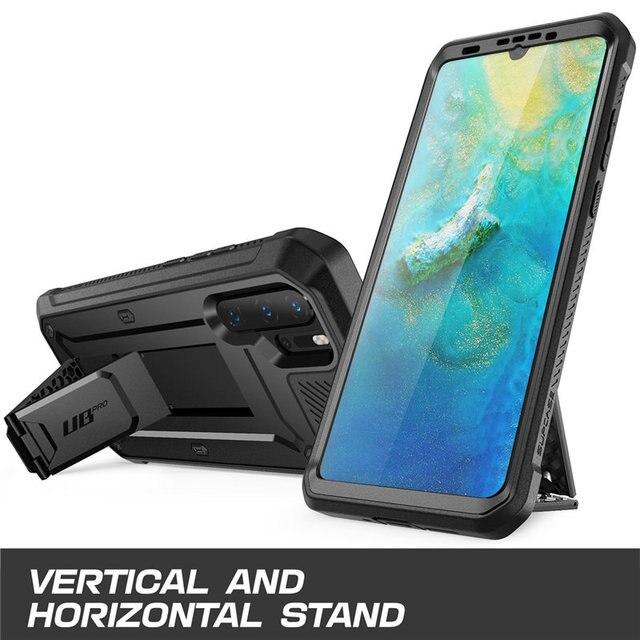 Do obudowy Huawei P30 Pro (wydanie 2019) SUPCASE UB Pro wytrzymała obudowa na całe ciało z wbudowanym ochraniaczem ekranu + podpórka