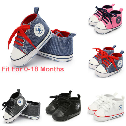 Sneakers Crib-Shoes Toddler Girls Canvas Soft-Sole Anti-Slip 0-18-Months Boys Focusnorm
