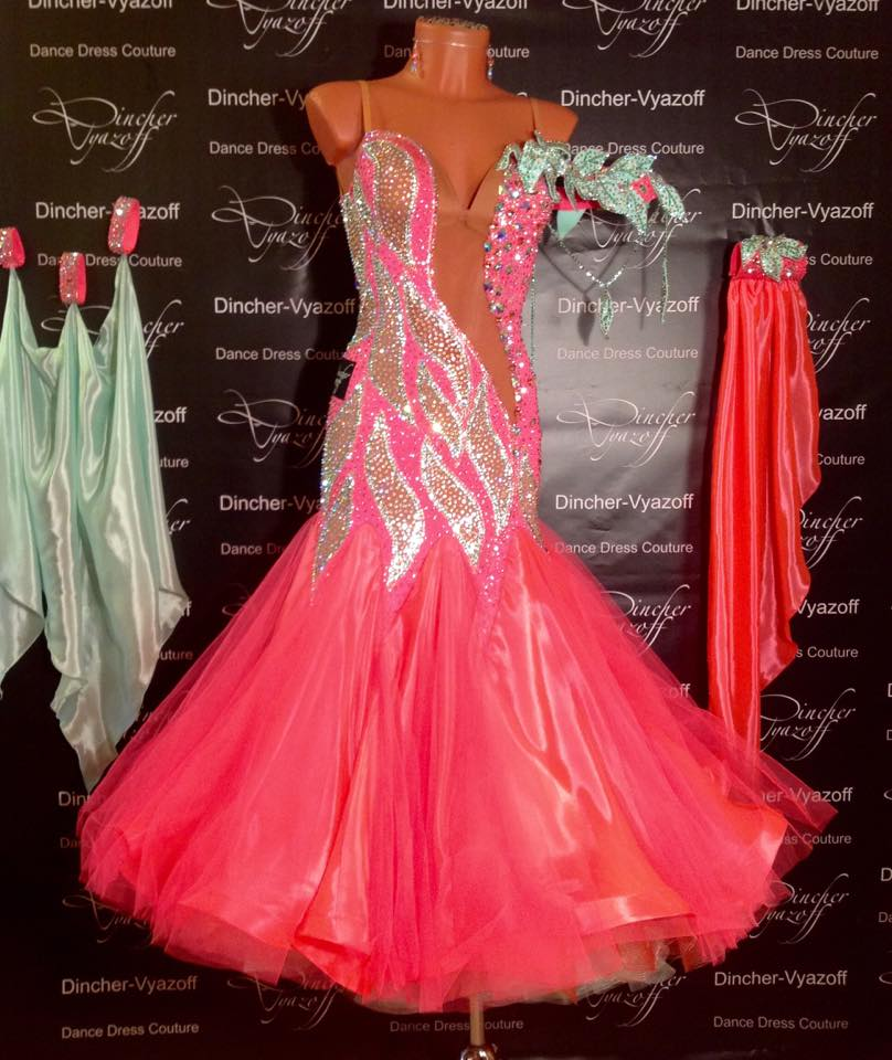 Ballroom Dance Dress Modern Dance Dress Standard Dancing Dress Customize Puffy Skirt