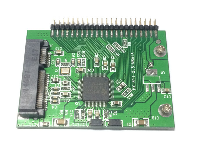 Msata Mini Pci-e sata to 1.8  44pin mini IDE Adapter Hard Disk Convert Card