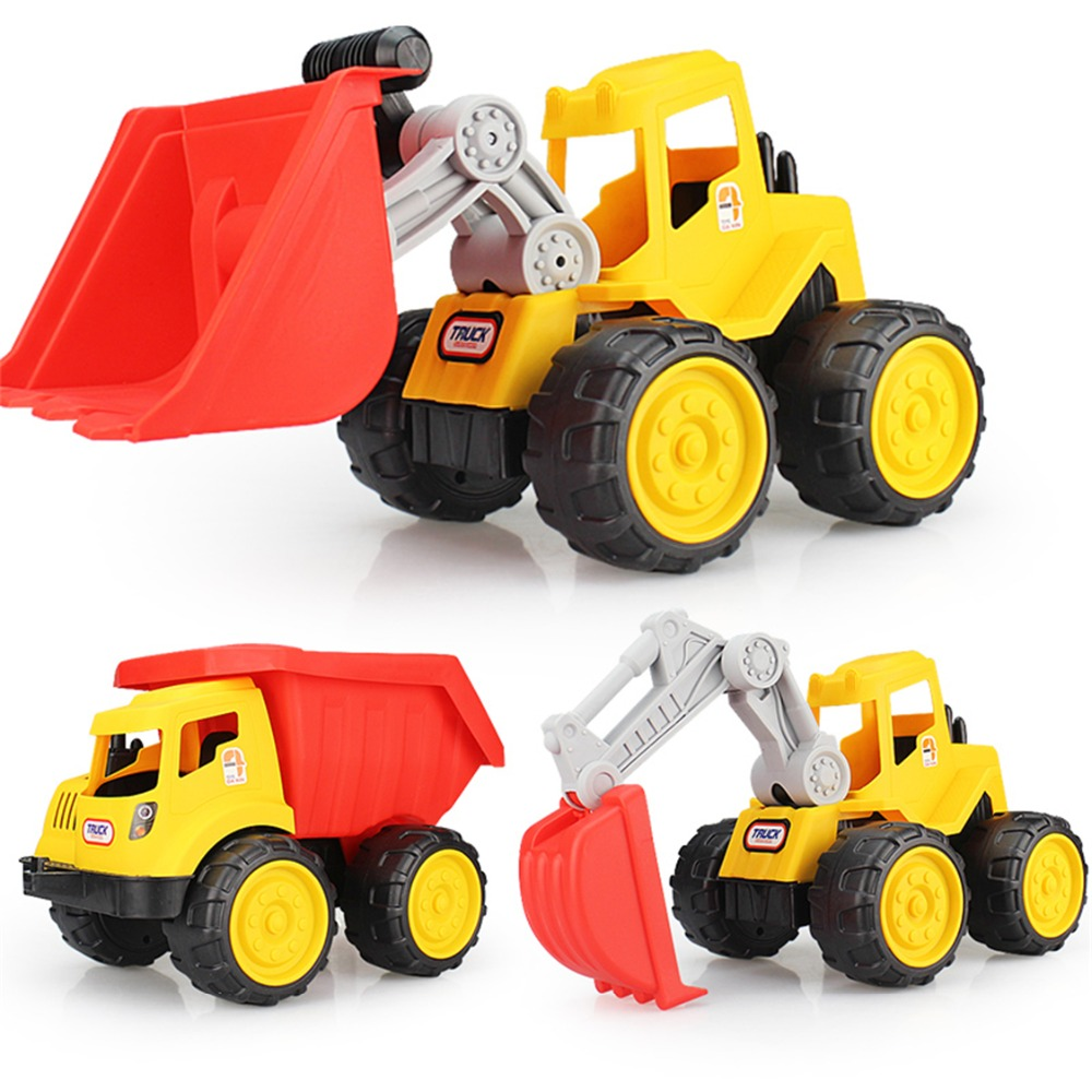 2017 lodra të reja Toddler Toys Bulldozer Car Dump Excavator for Children Kids Beach Baby Baby Toy Toy Sand Tools Tools Kamion Verë