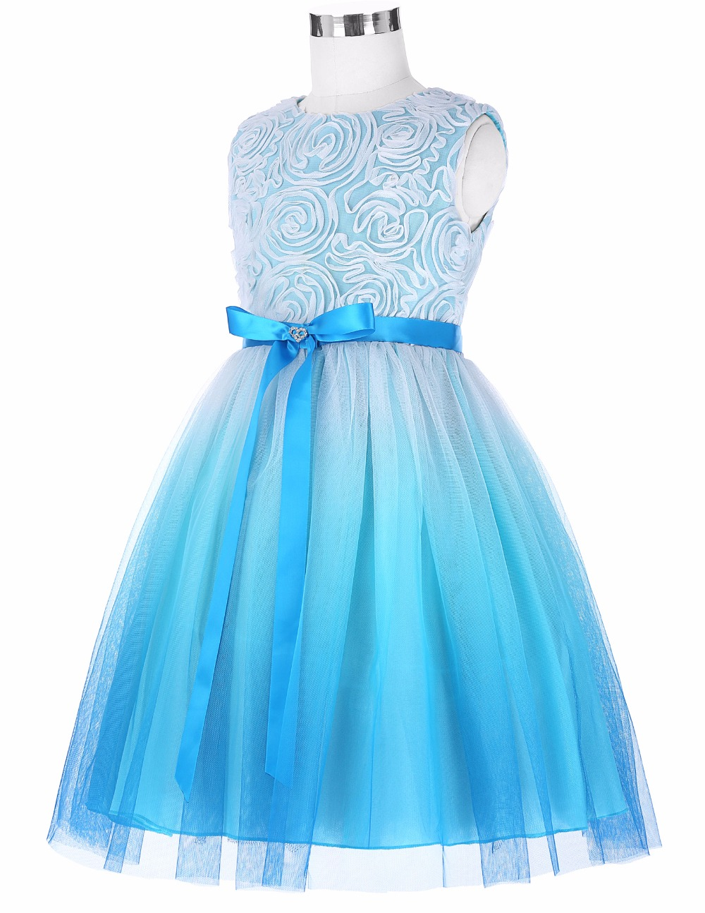 Grace Karin 2017 Flower Girl Dresses Luxury Tulle Flower Party Dresses For Wedding Party First Communion Dresses With Bow Ribbon 13