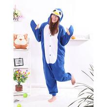 fa81edd71e Ocho azul pingüino Onesie pijama Unisex adultos trajes Kigurumi Cosplay  Animal Onesie ropa de dormir Mono para hombre hembra