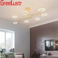 Modern Design Golden/Black Chandelier Lighting Rotate Lampshade Chandeliers Lamp Hanging Light Lustres Decor Home Lighting