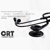 high quality Swiss Carent CRT868 double dual use head Medical stethoscope 8 colors doctor health care hospital free shipping