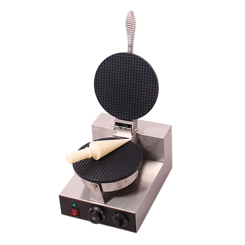 High Quality Single Head Ice Cream Cone Machine _Cone Baker Maker _Waffle Cone Maker Machine chinese single round pan rolled ice cream machine fried ice cream roll machine with 6 barrels