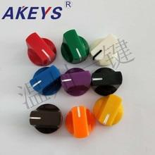 10pcs  KN-19-14 potentiometer bakelite plastic color knob audio tuning knob hanging ironing machine switch knob