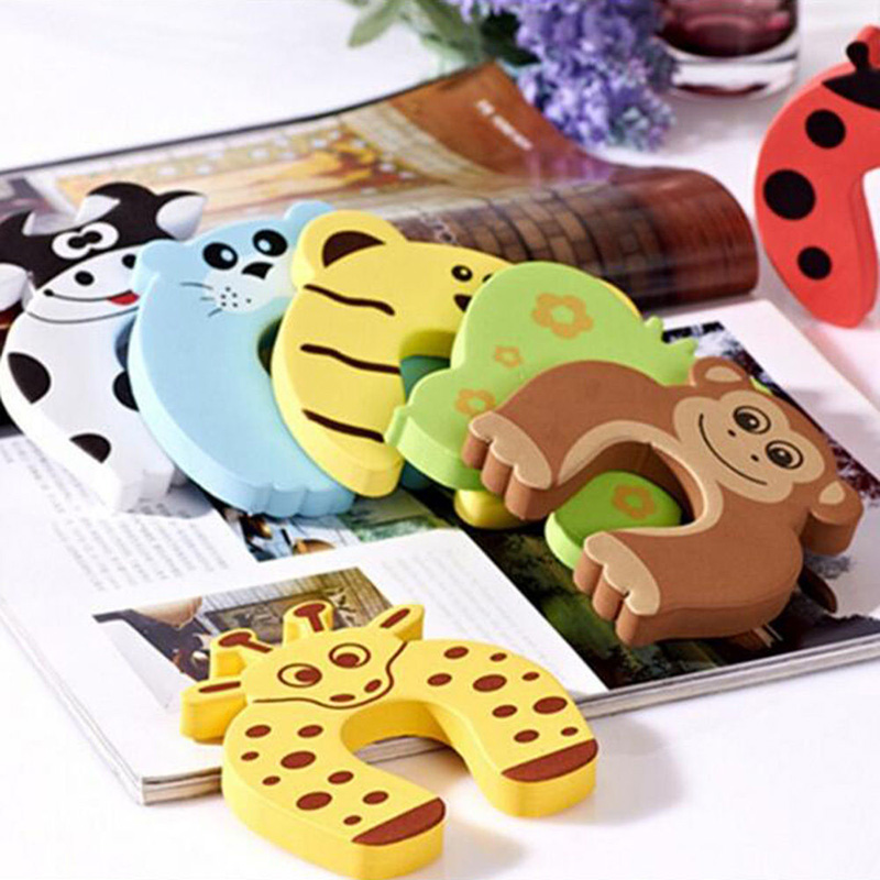 5Pcs Animal Style Baby Kids Safety Foam Door Guard Finger Protector Stoppers