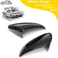 Pair Wing Case Rearview Mirror Cover For VW Golf MK7 Golf Variant E Golf L R