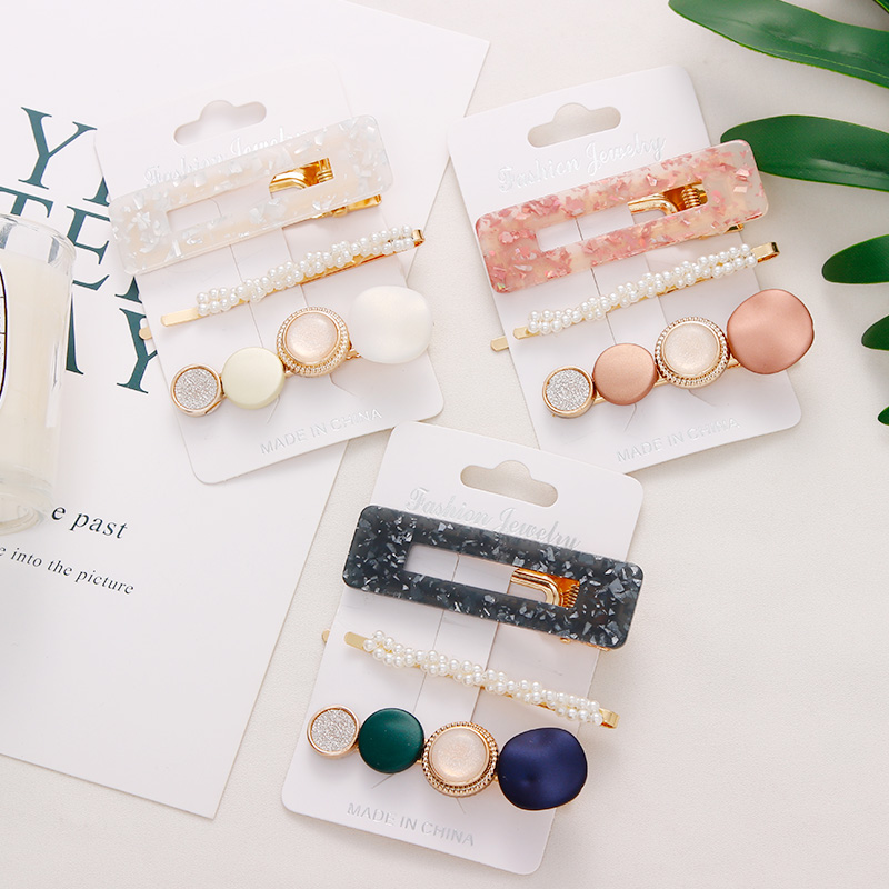 New-3PCS-Set-Fashion-Pearls-Acetate-Geometric-Hair-Clips-For-Women-Girls-Headband-Sweet-Hairpins-Barrettes (2)