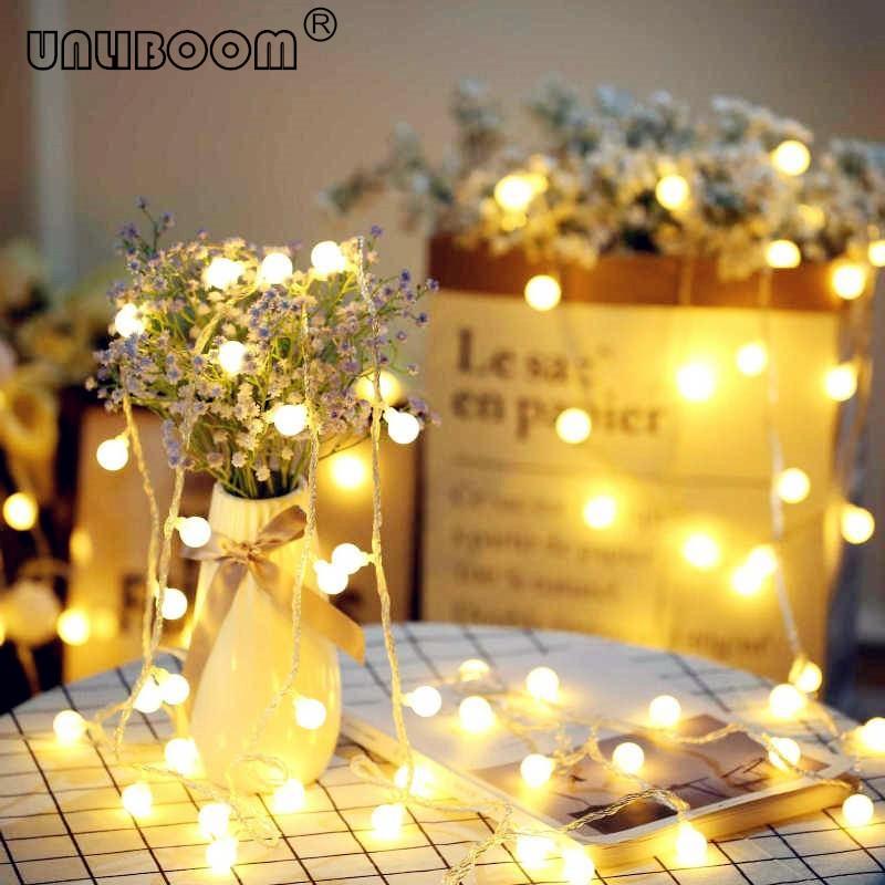 10M 100 LED String Faiy Garland Ball Light String For Christmas Tree Wedding Party Decoration Holiday Bulb Indoor Lamp220V EU/US