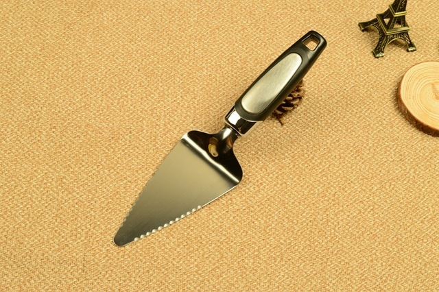 Both sides Serrated Edge Pizza Shovel Cake Knife Turner Divider for Party Pie Server Pizza Cutter Cake Tools