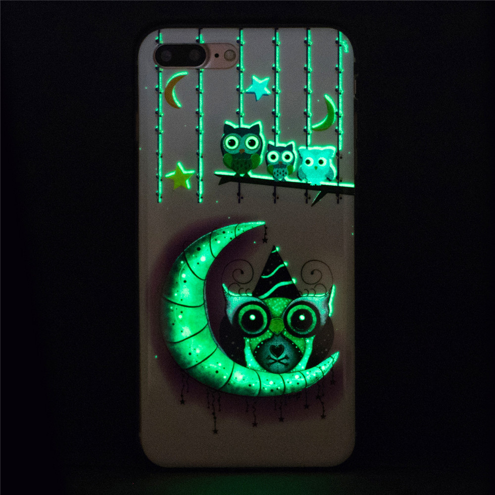 Luminous Moon Owl Green Glow TPU Case For Samsung S6 S7 A3 A5 J3 J5 J7 Huawei P8lite Mote G4 Sony XA LG G6 K8 K10 GOOGLE Pixel