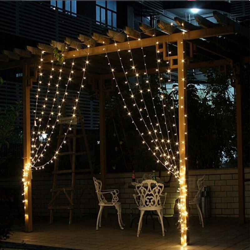 4m * 3m 400 bulbs LED Curtain lights Christmas light string outdoor new year Garland holiday party wedding lights decoration led curtain lights holiday lighting 6 3 m garland fairy wedding party garden indoor outdoor new year christmas home decoration