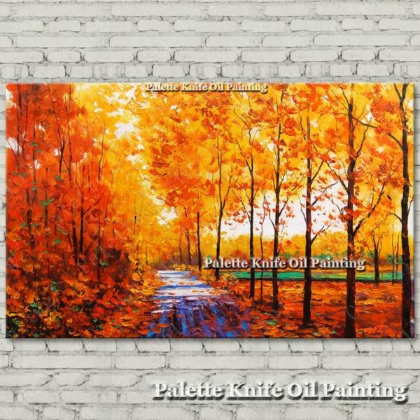 Ručně malované plátno Olejomalba Nástěnné obrazy pro obývací pokoj nástěnné dekorace umělecké plátno malování paleta nůž krajina 8