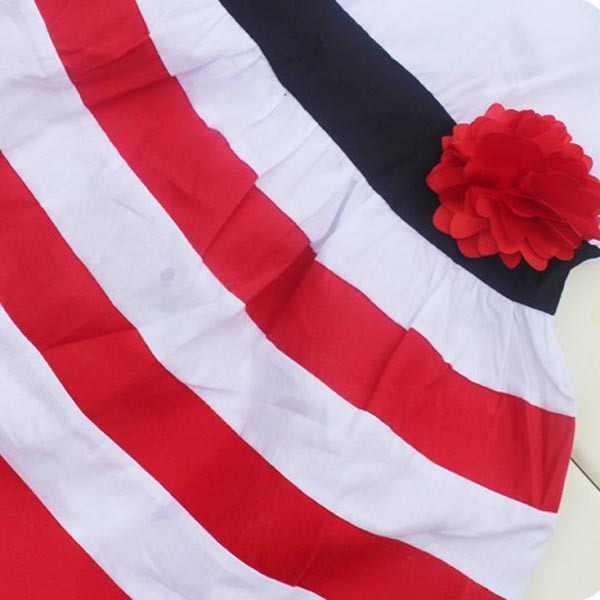 Платье без рукавов с широкими полосками для девочек; пляжное платье с цветочным принтом для малышей