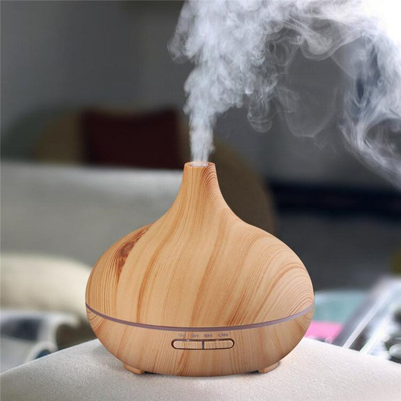 Eworld Air Humidifier Essential Oil Diffuser Aroma Lamp Aromatherapy Electric Aroma Diffuser Mist Maker for Office Home Wood