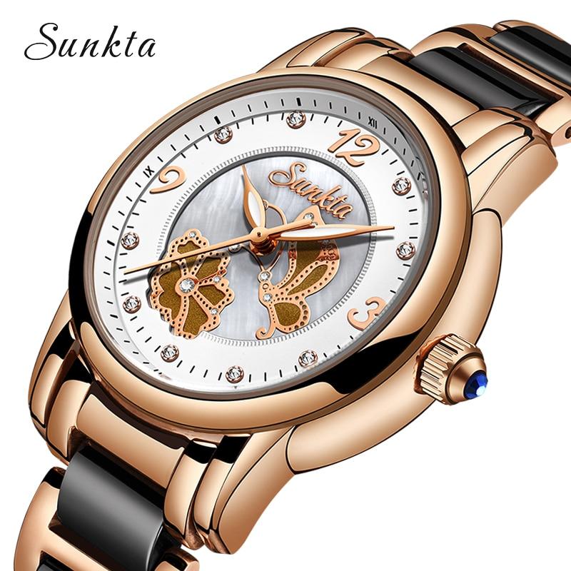 Image 5 - Quartz Watches Women Fashion Waterproof Watch 2019 Top Brand Luxury Ladys Ceramics Stainless Steel Women Watch Relogio Feminino-in Women's Watches from Watches