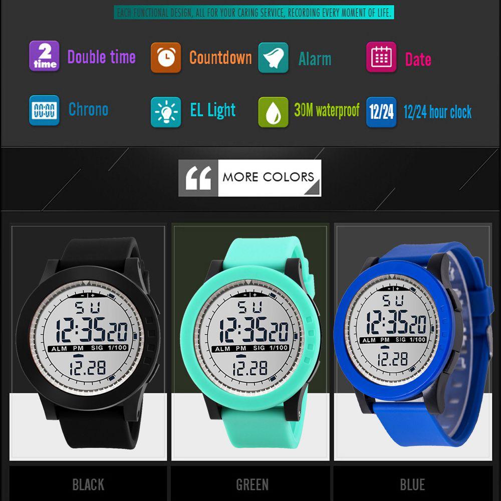 Watch Digital Sports-Watch--Luxury Waterproof LED Analog HONHX Men's