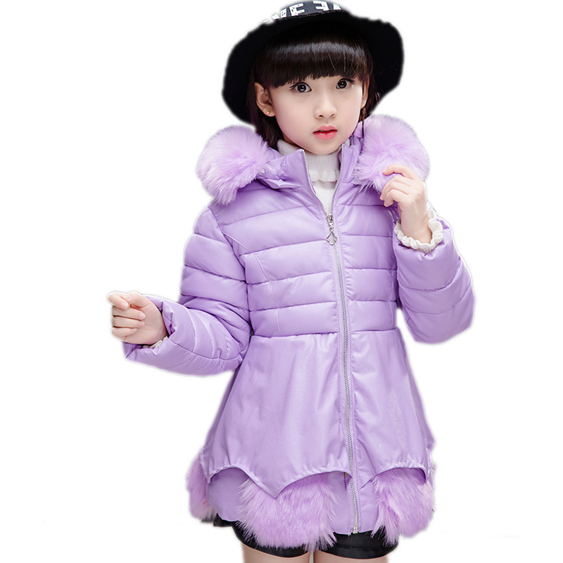 girl winter jackets 2018 kids coats gilrs winter long section thicken warm girls cotton padded coat pu leather children outwear casual 2016 winter jacket for boys warm jackets coats outerwears thick hooded down cotton jackets for children boy winter parkas