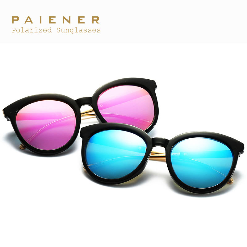 2017 New Luxury Polarized sunglasses women brand designer Round Oculos Driving sunglass Female Eyewear UV400 gafas de sol mujer
