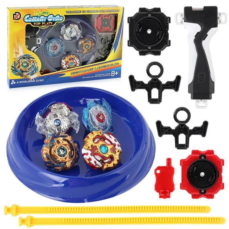 Metal Beyblade Burst Arena Set Gyro Fighting Gyroscope Launcher Spinning Toys Great Halloween/Christmas/New Year Gift For Boys