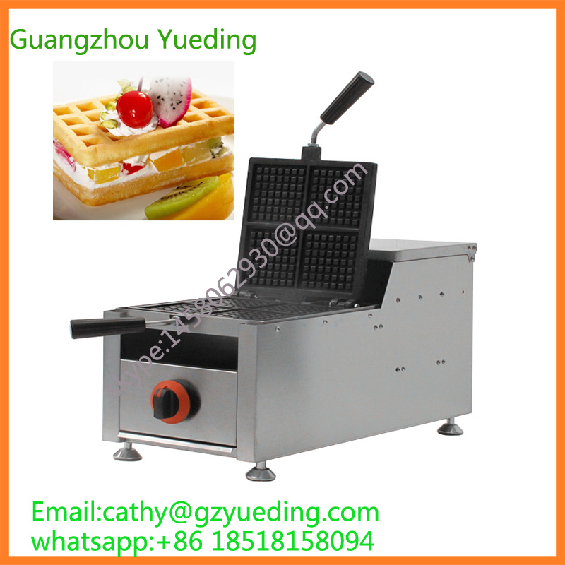 hot sell gas swings waffle maker/commercial waffle machine for sell hot sale 32pcs gas bean waffle maker
