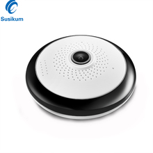 лучшая цена 1.3MP 2MP 360 Degree Panoramic WIFI Camera 1.56mm Lens Two Ways AUDIO ICSee APPWide Angle Security MINI Wireless Camera