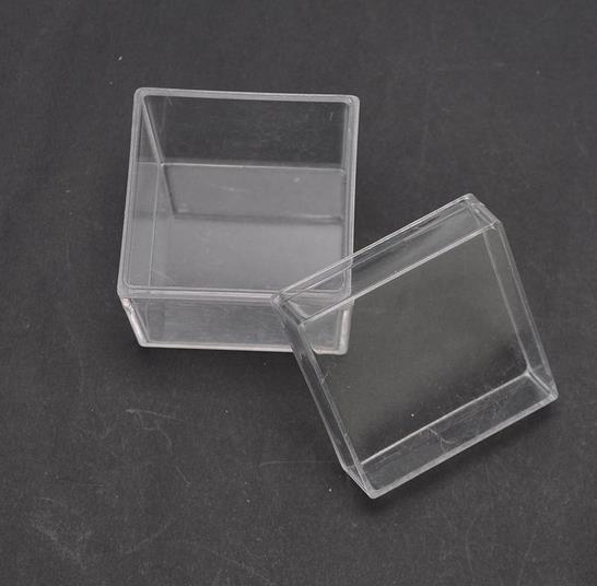 40pcs lot Square Wedding Candy Box Plastic Clear Gift Box Transparent Can Open Favor Boxes Baby
