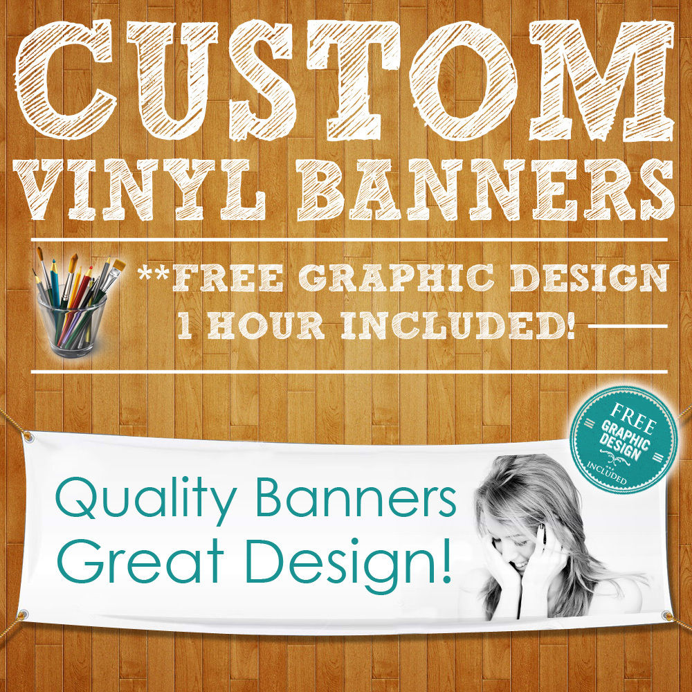 Custom Colorful Vinyl Banner ONLY 1.28$ per Sq.Ft.Outdoor billboard, indoor banner! free design( All Size Available)