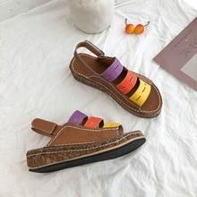Womens sandals summer womens shoes ladies wedges comfortable slip flat