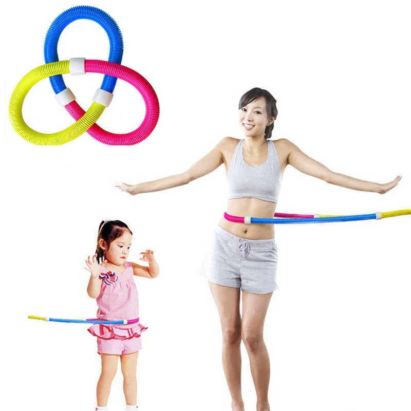 Multi-functional weighted spring fitnesss port hoop soft children's sport hoop adult women's crash hoop fitness equipment