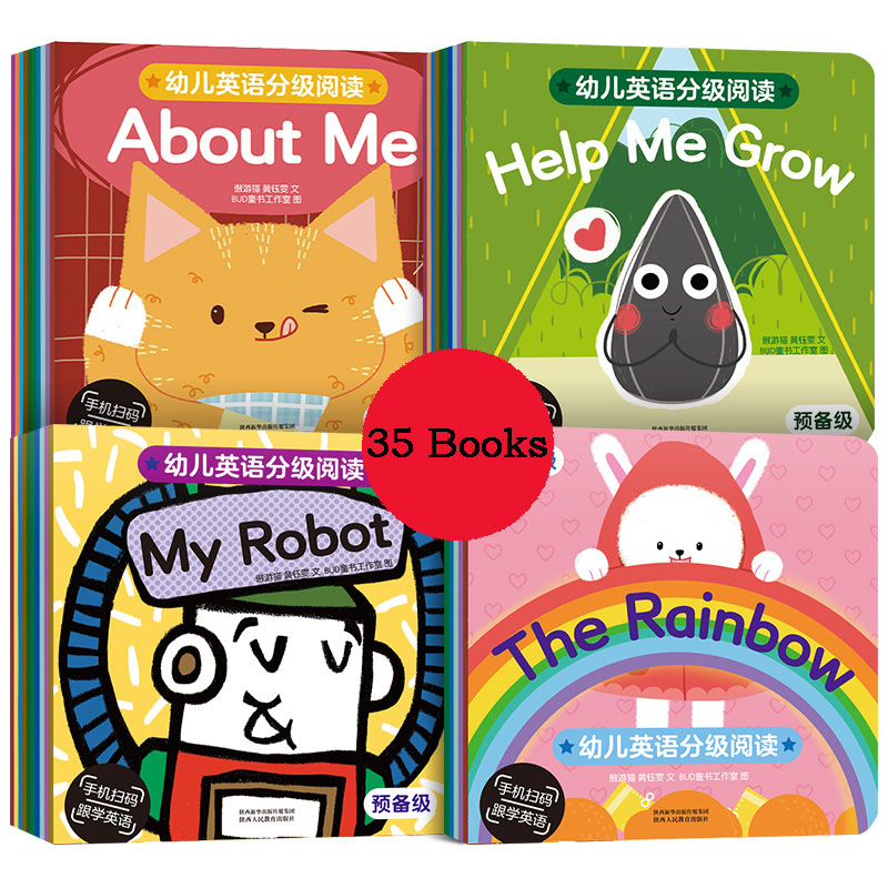 35 Book/Sets15CMx15CM Kids Color English Picture Parent-Child Educational Book Gift For Children Baby Learn Reading Story Books