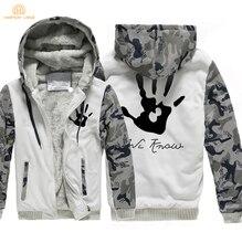 Skyrim Dark Brotherhood We Know Hand Print Fashion Zipper Hoodies Men 2019 Winter Warm Fleece Sweatshirts Mens Thicken Jacket