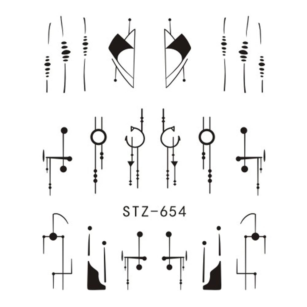 1 folha Prego Água Adesivos Preto Flamingo Animal Dos Desenhos Animados Fox Hollow Projetos SASTZ651-654 Sliders Para Decalques para Unhas Manicure DIY 2