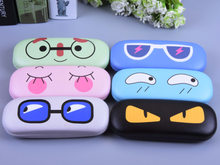 LIUSVENTINA Portable Hot Sale Cute Cartoon Eyes Expression Frame Glasses Box Sunglasses Case Birthday Gift for Children(China)