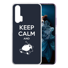 Soft Silicone Clear Case for Huawei Honor 20 Pro 9X 8X 10 Lite V20 6X V10 Honor Play 3 Anti-Scratch Keep Calm and Carry On Cover(China)