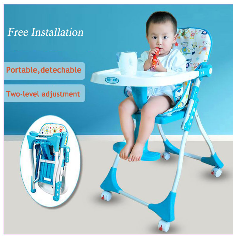 Free Installation Multi-function Baby Portable Folding Dining Table Chair Booster Seat Children Eating Chair Dinner Booster Seat infant dining chair small folding size convenient to carry weight 10kg saving space children dining eating chair free shipping