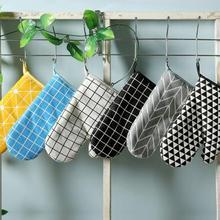 Хлопчатобумажные и льняные рукавицы для выпечки, перчатки для микроволновой печи, изолированные перчатки, перчатки для барбекю