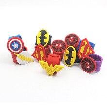 Captain America Spider Man Superman Batman Flash Wristband Bracelet Kids Gift Si