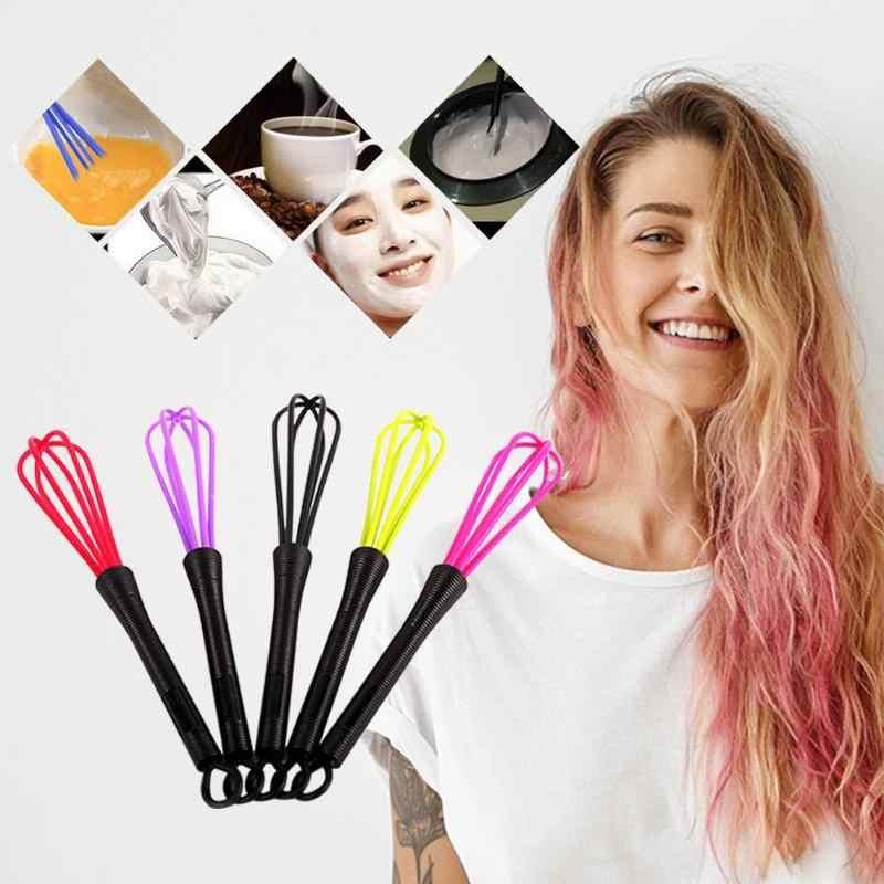 Professionelle Salon Friseursalon Dye Creme Schneebesen Kunststoff Haar Mixer Barber Rührer Haarpflege Styling Werkzeuge Mixer Zufällige Farbe