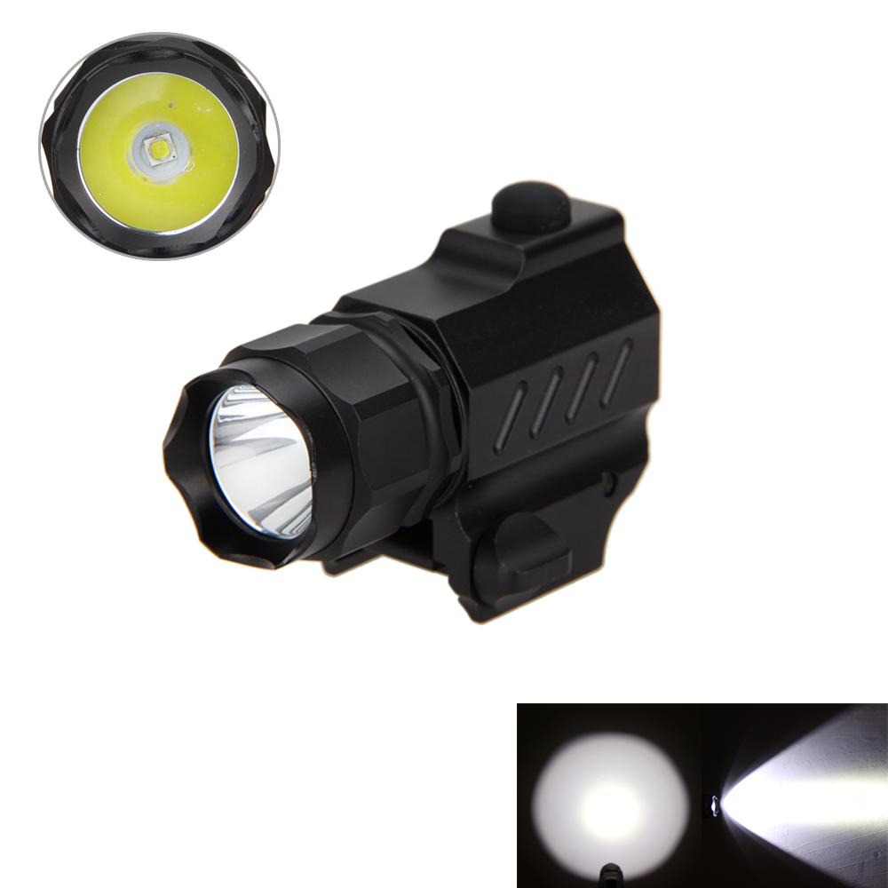 Tactical Hunting Torch 800 Lumen R5 LED Flashlight Torch Light with 20mm Rail Mount Rifle Only Light NO Battery