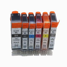 Vilaxh 6pcs 220 221 PGI-220 CLI-221 compatible ink cartridge For Canon MP560 MP620 MP630 IP3600 IP4600 IP4700 MP640 MP980 MP990 все цены