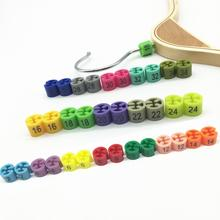 Напечатанные маркеры размеров для вешалок одежды Размер номера бирки вешалка для одежды Размер разделителей дисплей одежды