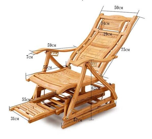 Ältere Stuhl Liegen Bambus 1